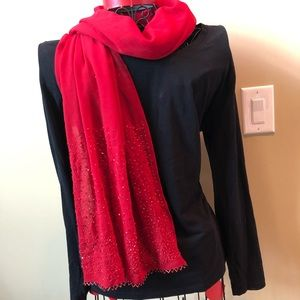 Accessories - Beautiful red sequined scarf New